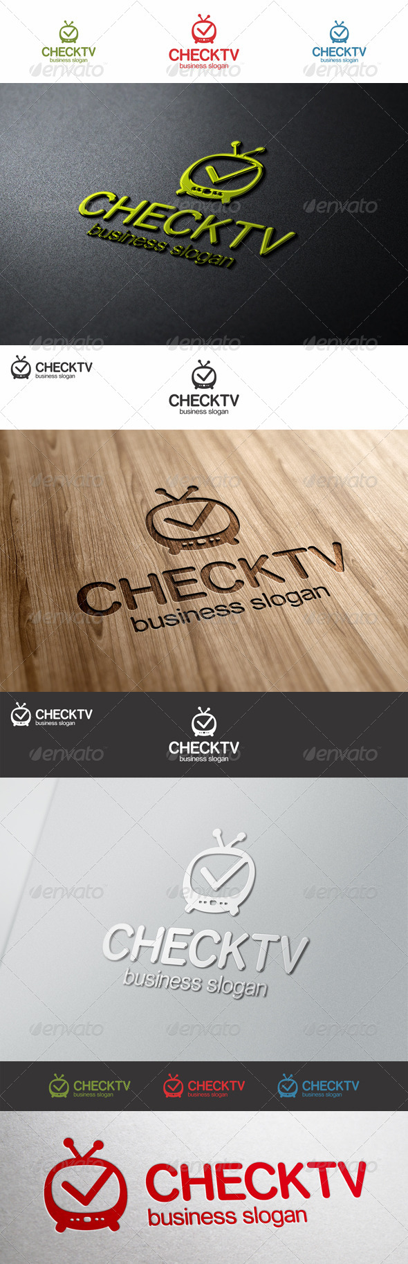 GraphicRiver Check Tv Logo 7750045