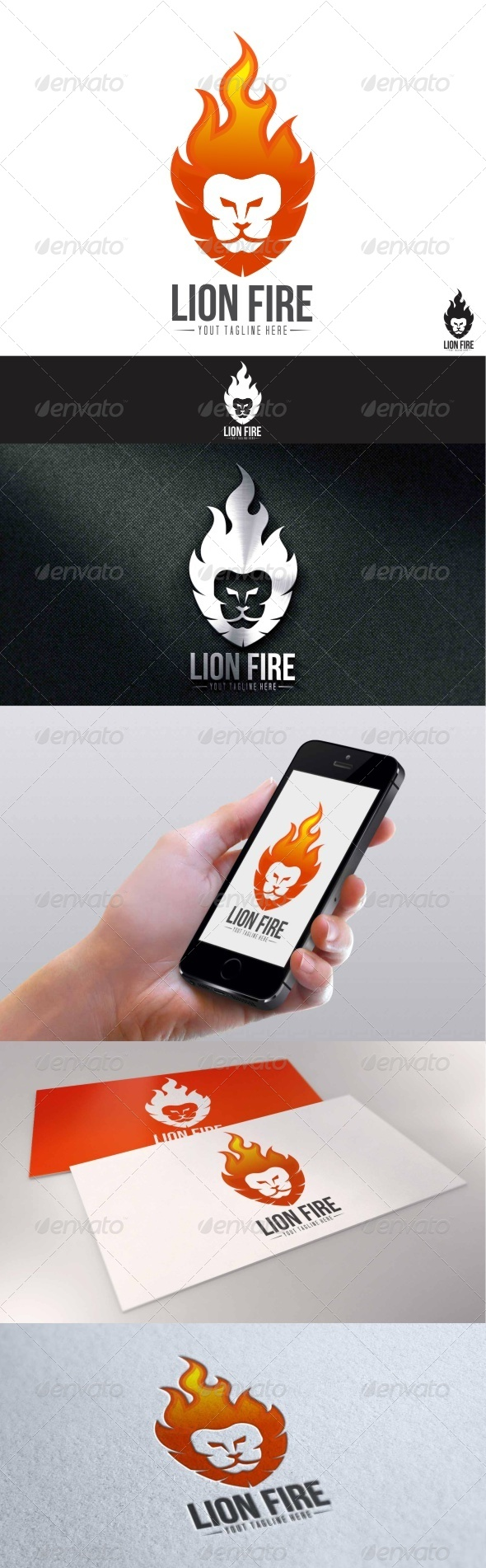 GraphicRiver Lion Fire Logo 7750172