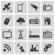 Vector Black Wireless Icons Set - GraphicRiver Item for Sale