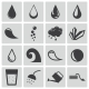 Vector Black Water Icons Set - GraphicRiver Item for Sale