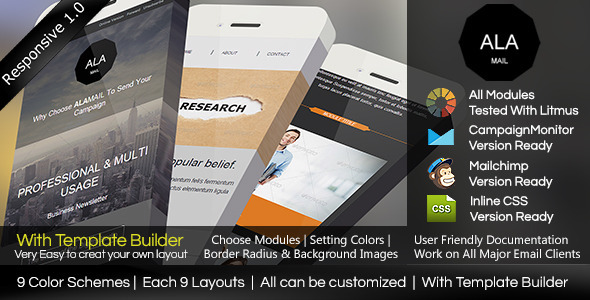 ThemeForest ALA MAIL Responsive Email With Template Builder 7751713