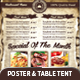 A3 Poster / A5 Table Tent Menu  - GraphicRiver Item for Sale