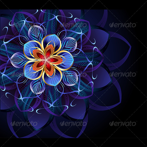 GraphicRiver Abstract Blue Flower 7751887
