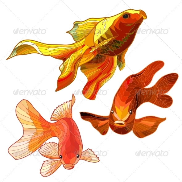 GraphicRiver Set of Gold Fish 7752465