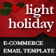 Light Holiday E-commerce Email Newsletter Template - GraphicRiver Item for Sale