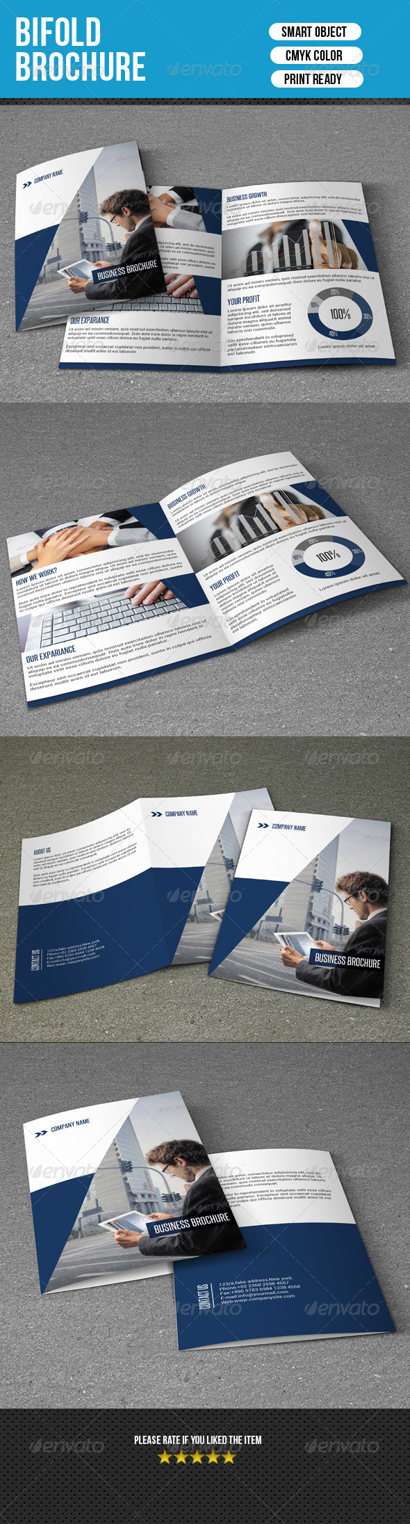 GraphicRiver Bifold Business Brochure-V02 7752647