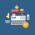 Commerce and retail flat illustration - PhotoDune Item for Sale