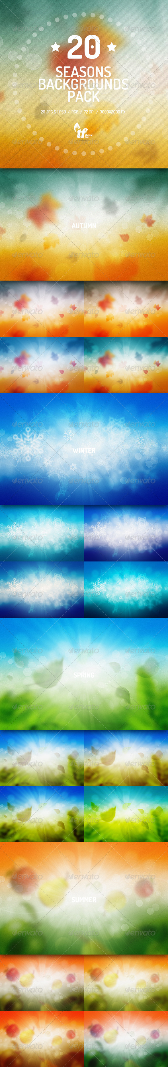 GraphicRiver 20 Seasons Blur Backgrounds Pack 7753975