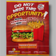 Fast Food Flyers 04 - GraphicRiver Item for Sale