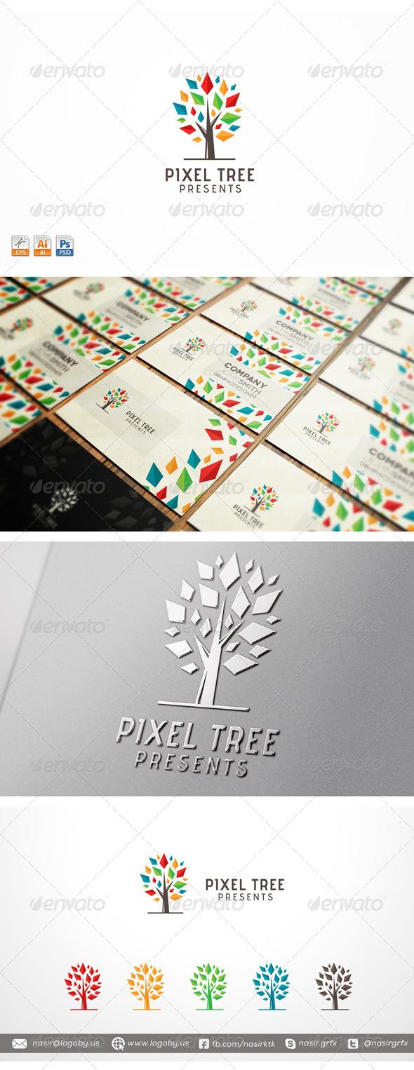 GraphicRiver Pixel Tree 7754120