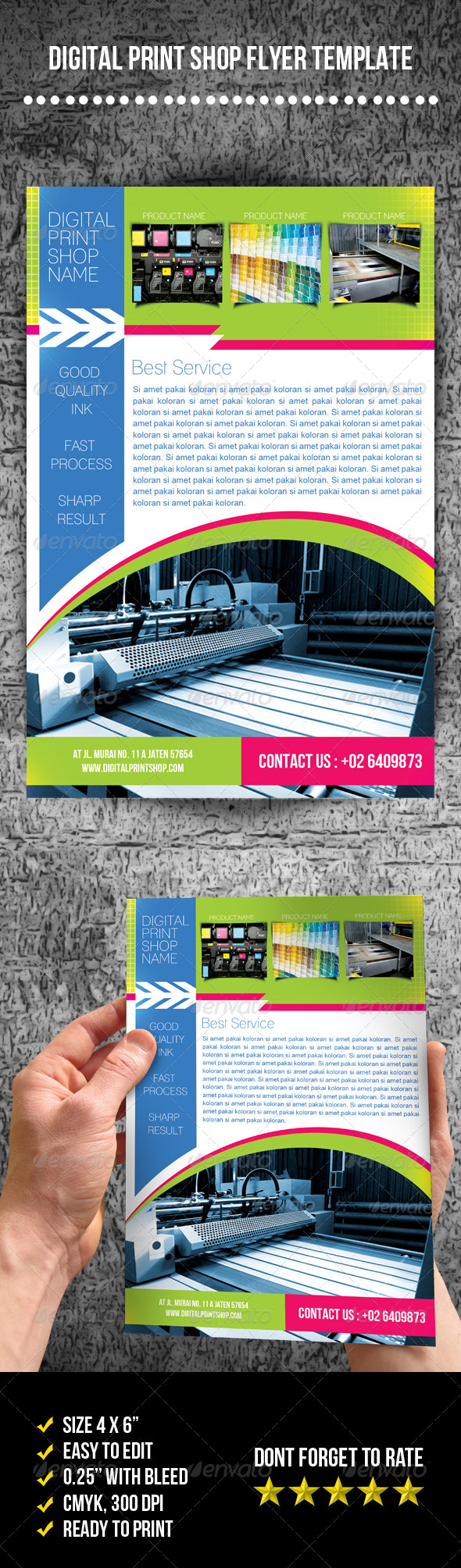 GraphicRiver Digital Print Shop Flyer 7754237