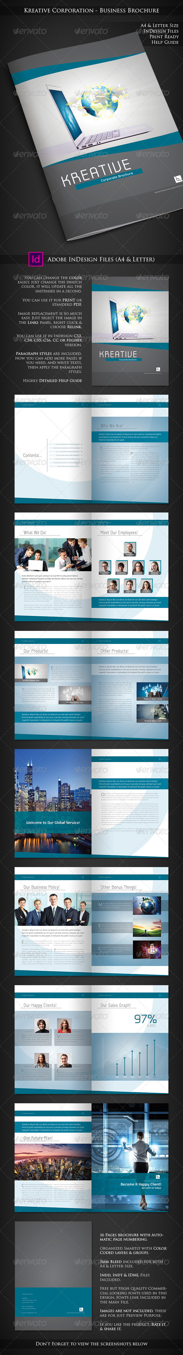 GraphicRiver Kreative Corporation Company Profile Brochure 7754368