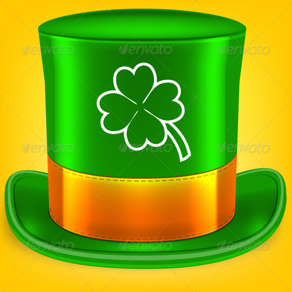 GraphicRiver Green St Patrick s Day hat 7754565