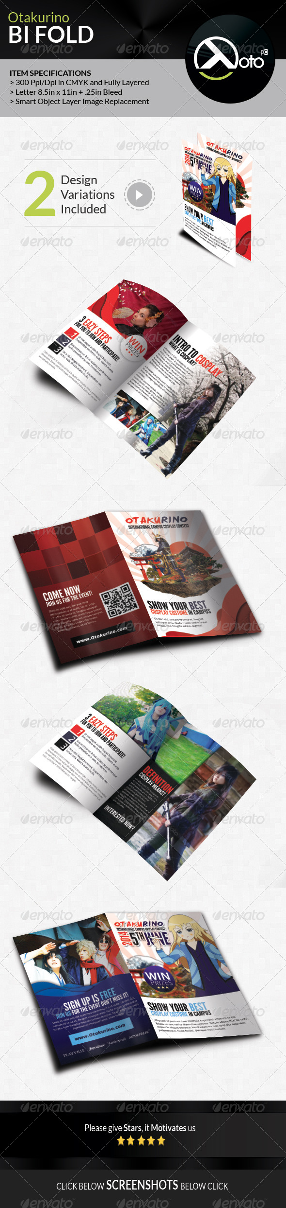 GraphicRiver Otakurino Internation Cosplay Contest Bifold 7755006