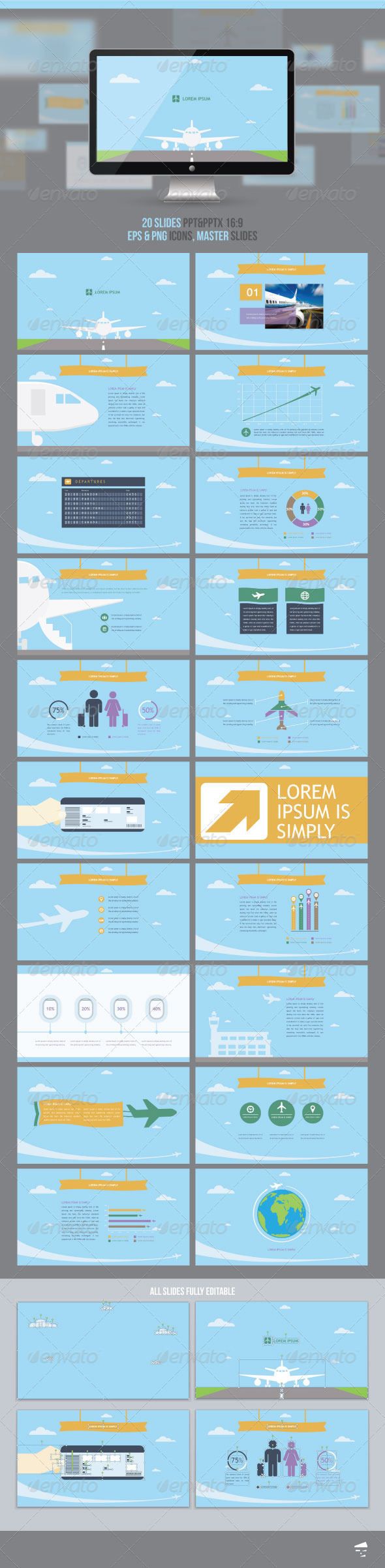 GraphicRiver Presentation for Airlines 7755082