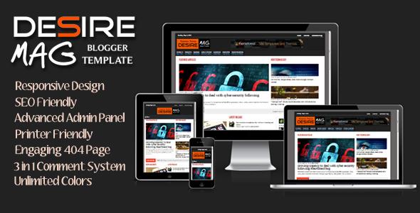 ThemeForest Desire Mag Responsive Magazine Blogger Template 7755223