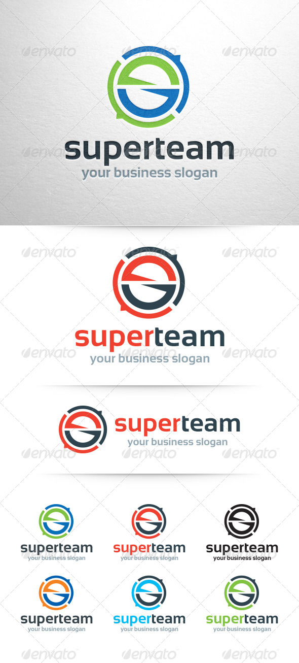 GraphicRiver Super Team Letter S Logo 7755256