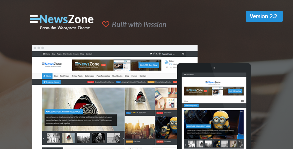 NewsZone - Responsive & Retina WordPress Magazine - News / Editorial Blog / Magazine