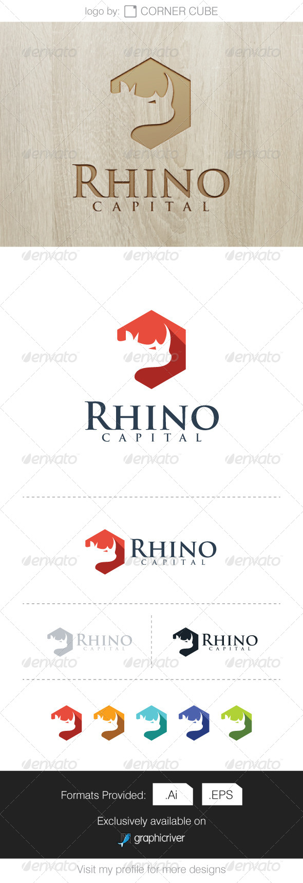 GraphicRiver Rhino Capital Logo 7591680