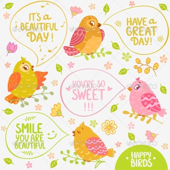 GraphicRiver Birds Speech 7757856