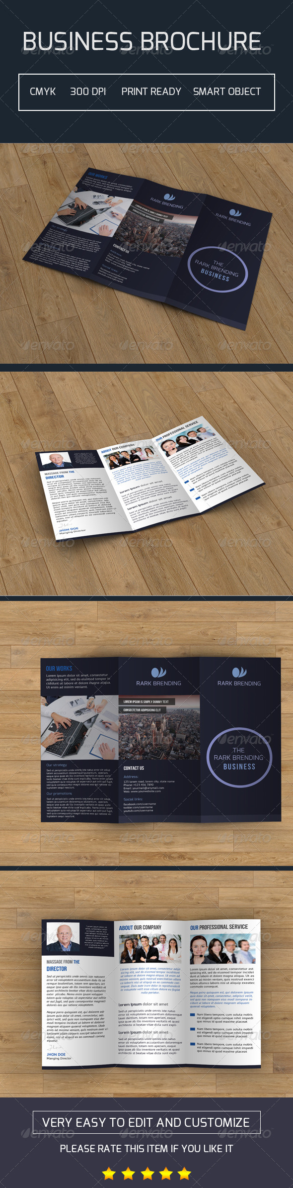 GraphicRiver Trifold Business Brochure-V03 7757934