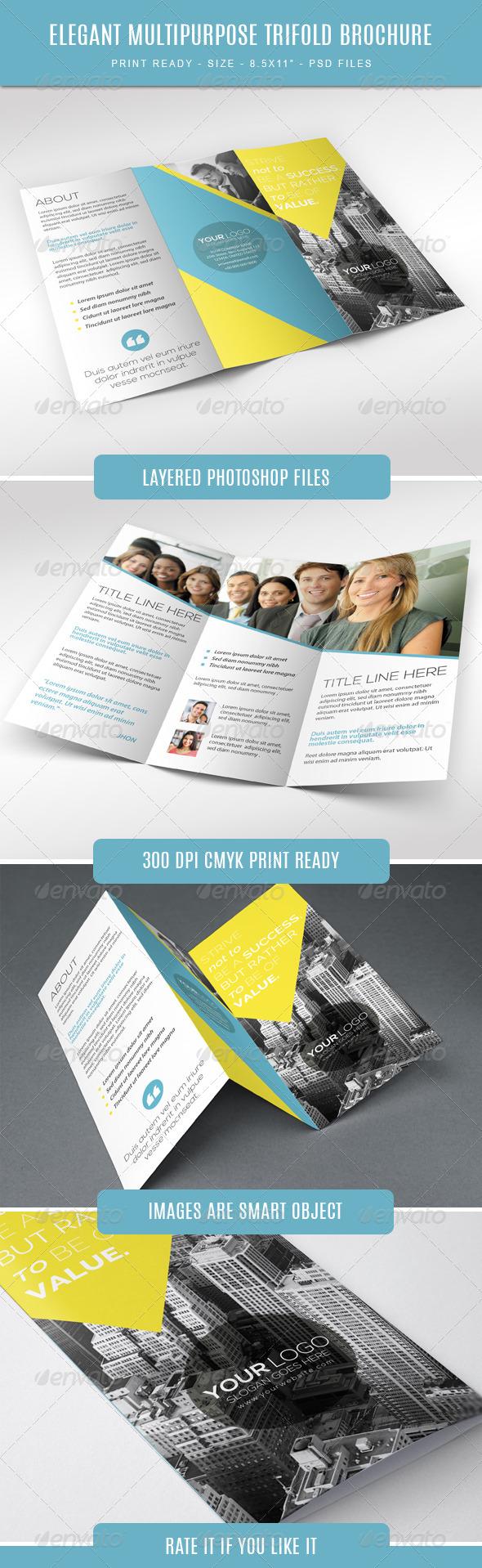 GraphicRiver Elegant Multipurpose Trifold Brochure 7757936