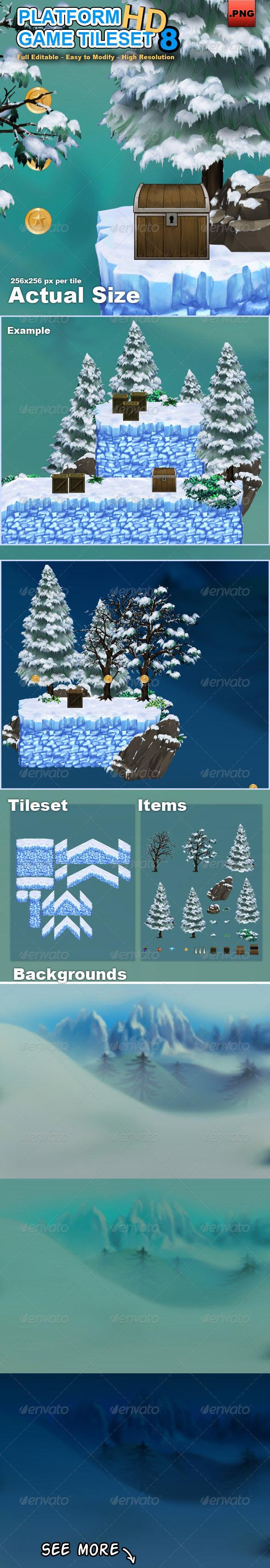 GraphicRiver Platform Game Tileset 8 HD 7758026