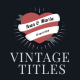Vintage Romantic Titles Pack - VideoHive Item for Sale