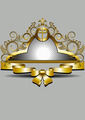 Golden Frame with Crown and Bow - PhotoDune Item for Sale