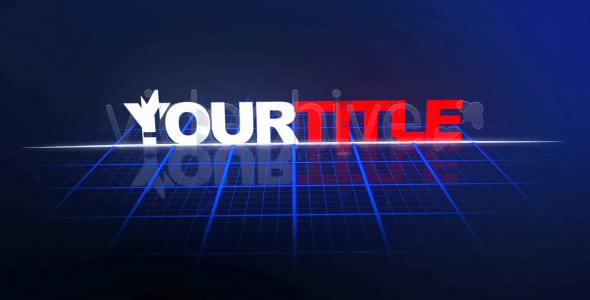 After Effects Project - VideoHive Tron-Like Title 68120