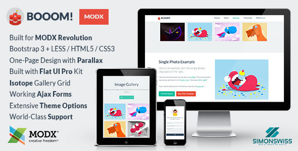 ThemeForest Booom Bootstrap Flat UI Pro Theme For MODX 7751967