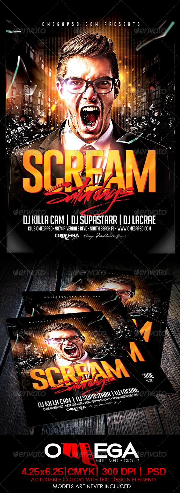GraphicRiver Scream Saturdays 7760040