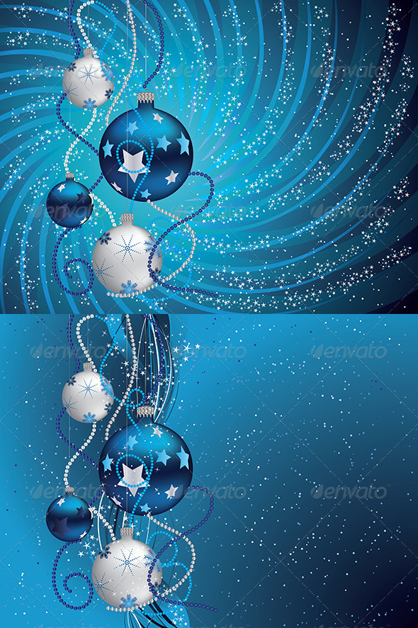 GraphicRiver Blue Christmas Background 7760313