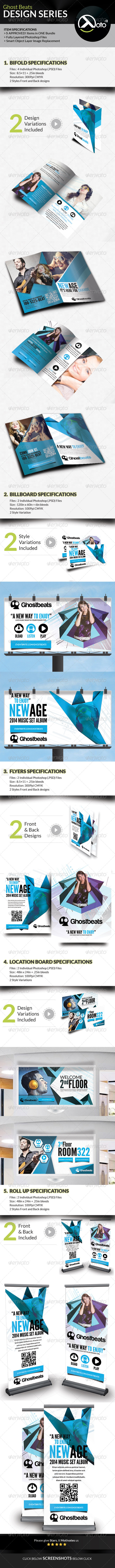GraphicRiver Ghost Beats Music Download Design Series Bundle 7742171