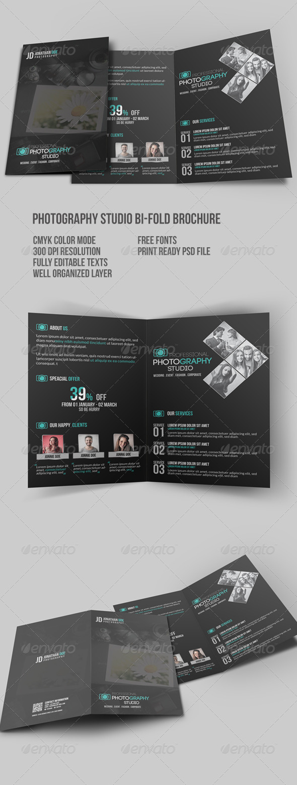 GraphicRiver Photography Studio Bi-Fold Brochure 7760678