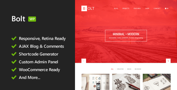 ThemeForest Bolt Responsive WordPress Theme 7710044