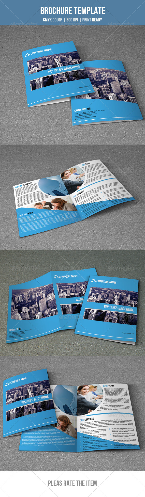 GraphicRiver Corporate Bifold Brochure-V03 7761658