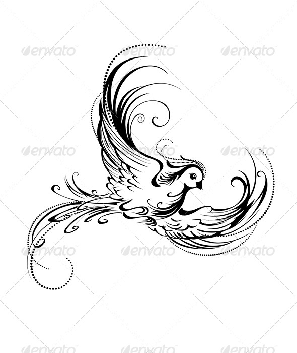 GraphicRiver Stylized Bird 7761796