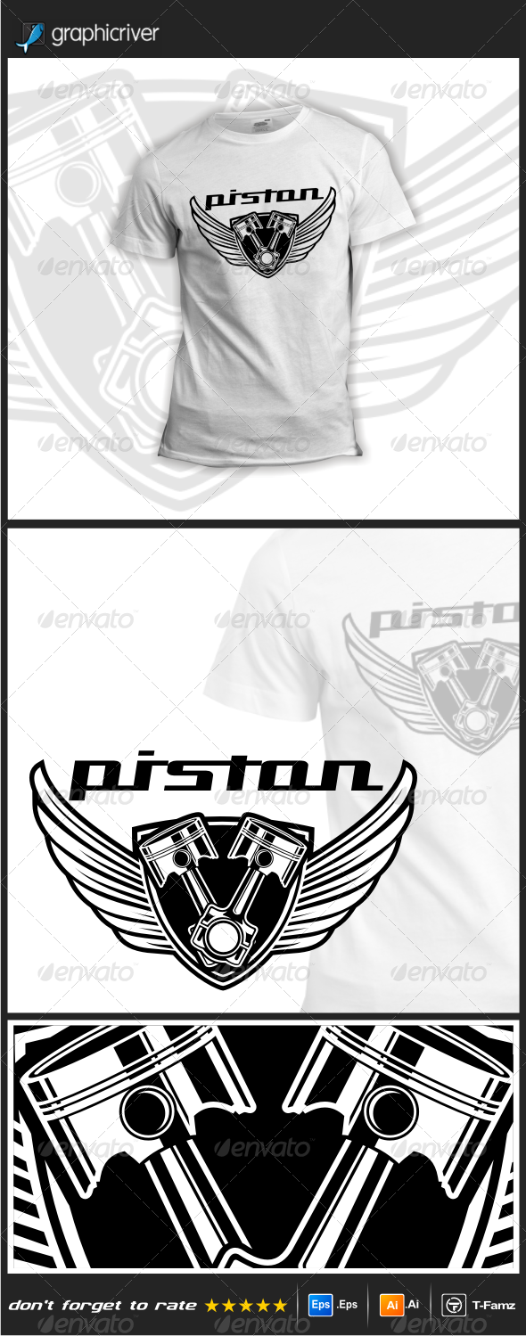 GraphicRiver Piston T-Shirts 7761832