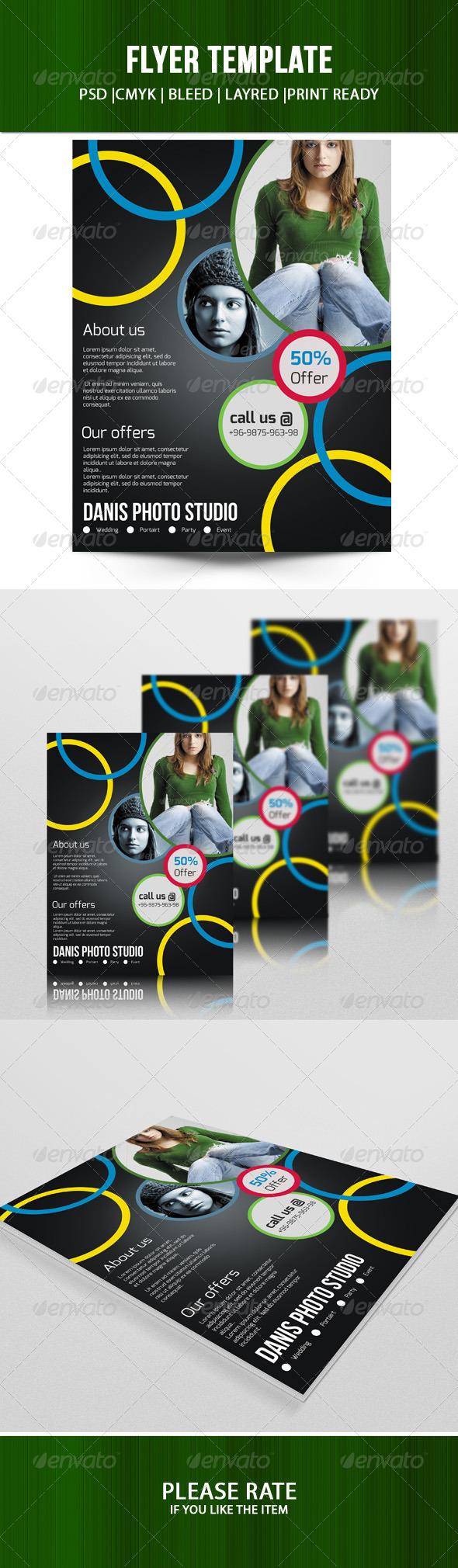 GraphicRiver Photo Studio Flyer-V01 7744434