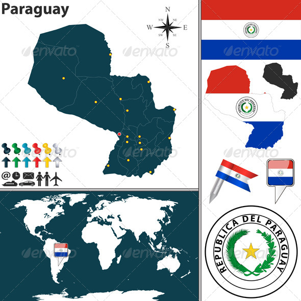 GraphicRiver Map of Paraguay 7762223
