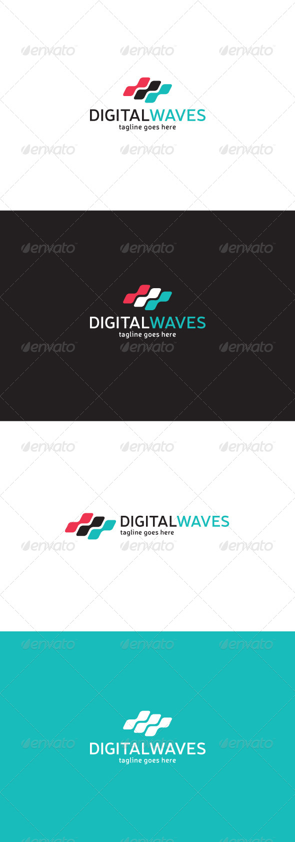 GraphicRiver Digital Waves Logo 7763198