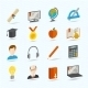 E-learning Flat Icons - GraphicRiver Item for Sale