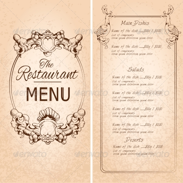 GraphicRiver Restaurant Menu Template 7763478