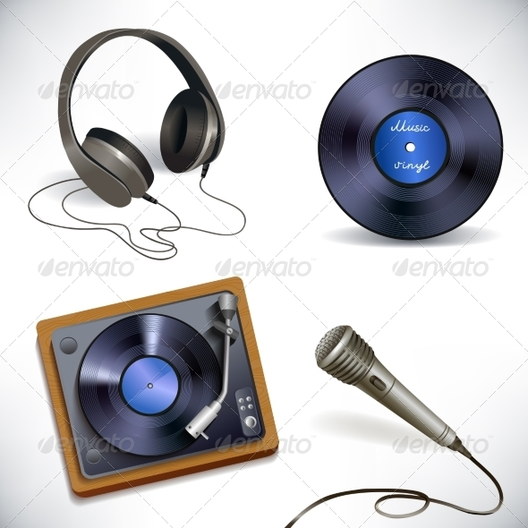 GraphicRiver Music Equipment Set 7763480