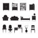 Furniture Icons Black - GraphicRiver Item for Sale