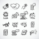 Contact Us Icons Sketch - GraphicRiver Item for Sale