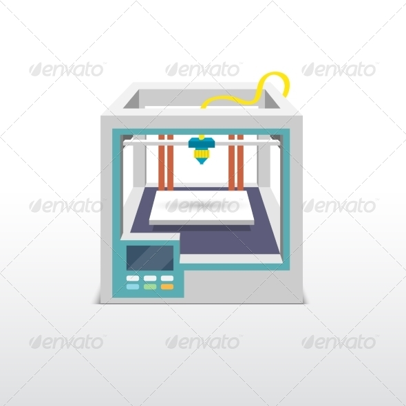 GraphicRiver 3D Printer 7763597