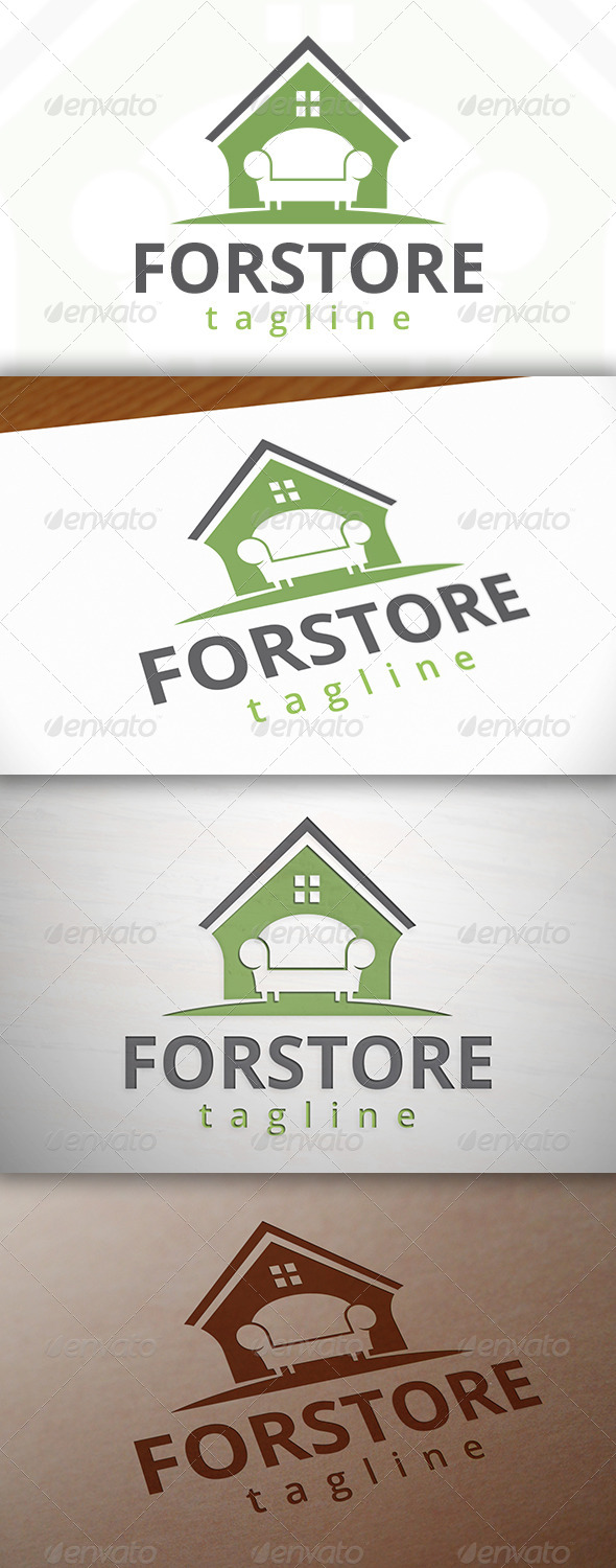 GraphicRiver Furniture Store Logo 7763772