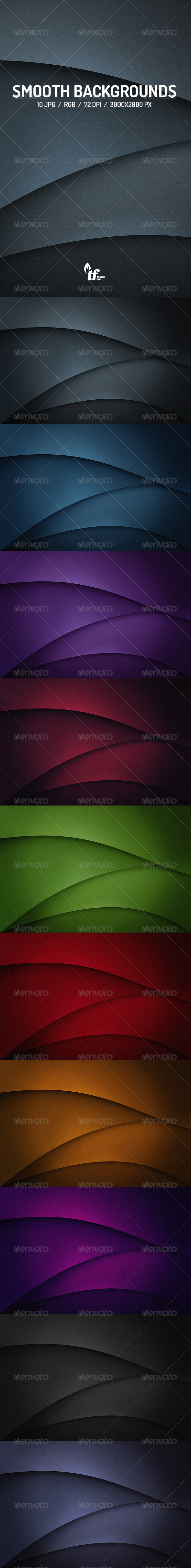 GraphicRiver Flat Smooth Flow Backgrounds 7763856